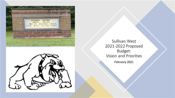 Bulldogs, Please View the First Budget Video Presentation for the 2021-2022 School Year Budget Process, Which Outlines Our Vision for our Schools Going Forward